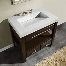 Bathroom Sink Cabinets Marble silkroad exclusive 36 quot single sink cabinet carrara white