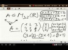 basis kern rang und defekt einer matrix l a