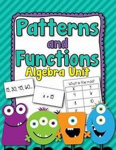 patterns functions and algebra worksheets pdf 442 patterns and functions algebra unit packet math patterns algebra math projects