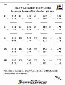 free math worksheets subtraction borrowing subtraction with regrouping worksheets