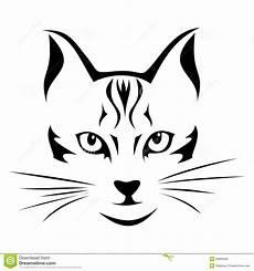 Katzengesicht Malvorlage Black Silhouette Of Cat Vector Stock Vector