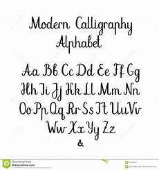 handwritten brush letters abc modern calligraphy