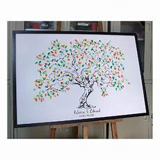 personalize fingerprint wedding tree wedding guest book tree unique signature guestbook
