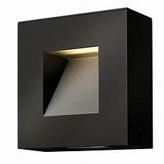 contemporary satin black led square exterior wall light