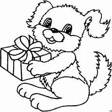 gratis malvorlagen geschenke kleiner hund mit geschenk ausmalbild malvorlage comics