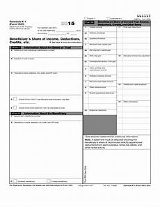 form 1041 k 1 form 1041 schedule k 1 beneficiary s share of income deductions credits etc 2015 free