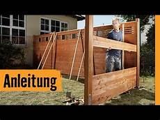 Sichtschutz Garten Selbst Gemacht Sichtschutz Bauen Mit Zaunsystem Hornbach