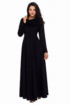 sleeve maxi dress rash stylish black cow neck sleeve maxi dress