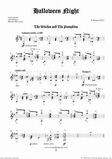 halloween sheet music for guitar solo pdf interactive