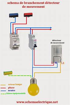 branchement detecteur de mouvement 5825 lumandar schema electrique