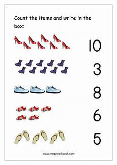 counting numbers worksheets 1 10 7986 math worksheet count and match with number 1 10 matching worksheets preschool math