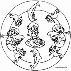 Ausmalbilder Meerjungfrau Mandala Sommermandalas Im Kidsweb De