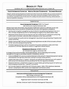 resume healthcare information technology health information technician sle resume monster com