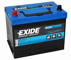 Batterie 80 Ah - exide er350 dual leisure battery 80ah porta power pp75