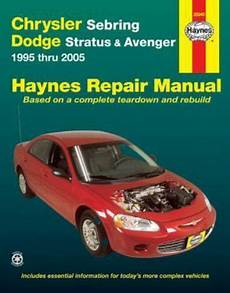 automotive service manuals 1995 dodge stratus auto manual automotive repair manual ser chrysler sebring dodge stratus and avenger 1995 thru 2005 by
