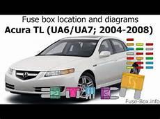 2004 acura tl fuse box l ocasion fuse box location and diagrams acura tl ua6 ua7 2004 2008