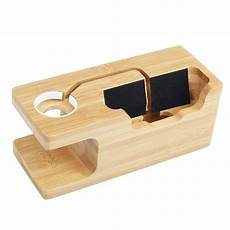 Bakeey Bamboo Multi Function Charger Dock by Bakeey Bamboo Multi Function Charger Dock For Apple Phone