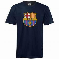 fc barcelona official football gift mens crest t shirt ebay