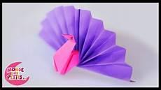comment faire un origami origami le paon en papier pli 233
