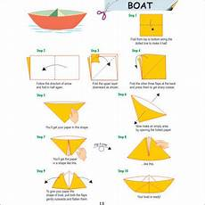 schiffchen falten anleitung how to fold an oragami boat nautical origami