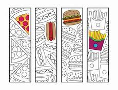 fast food bookmarks pdf zentangle coloring page
