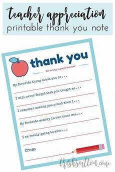 thank you card template for students from appreciation week printable gift ideas