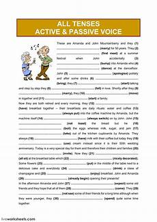grammar worksheets passive active voice 25028 all tenses active passive voice 3 interactive worksheet