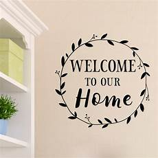 Vinyl Home Decor Ideas by Welcome To Our Home Vinyl Wall Decal Entry Wall