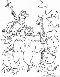jungle animals coloring pages for kindergarten 17049 in jungle coloring page jungle coloring pages