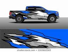 Pick Up Truck Decal Vector Graphic Abstract Racing