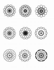 More Mini Mandalas To Color Small Mandala Simple