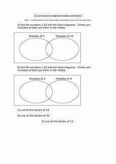 factors and multiples teaching resources