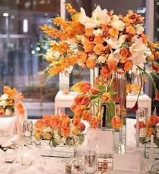 orange reception wedding flowers orange wedding decor