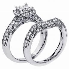 1 carat vintage princess cut diamond wedding ring for jeenjewels