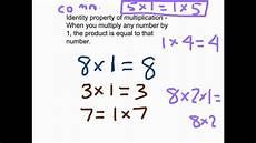 multiplication properties youtube