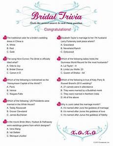 Wedding Trivia