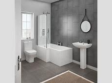 Milan Modern Shower Bath Suite   Online At Victorian