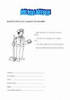 zoo keeper worksheets english worksheets mr zoo keeper