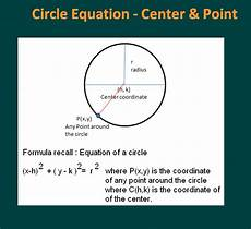equation of circle given center and a point calculator