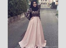 2017 Pink Lace Muslim Mother Of The Bride Formal Gowns
