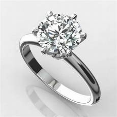 diamond solitaire ring 2 carat round vs1 f excellent cut
