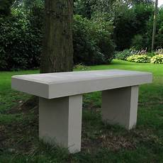 pure modern single straight stone bench large garden benches