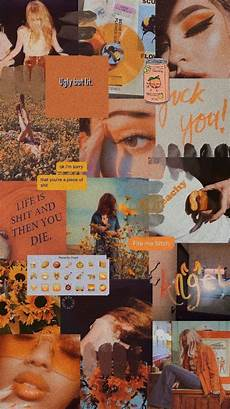 Retro Orange Aesthetic Wallpaper