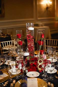 tavistock country club wedding submerged centerpiece floating candle centerpiece gold