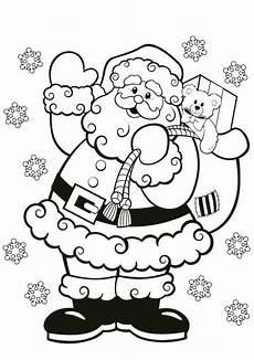 santa claus colouring in for this