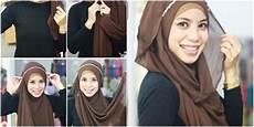 Cara Memakai Jilbab Pashmina Menutup Dada Cara Memakai