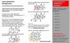 lattice multiplication worksheets multiplication tutorial lattice method for