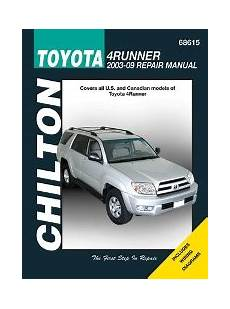 small engine repair training 2003 toyota 4runner free book repair manuals 2003 2009 toyota 4runner chilton s total car care manual