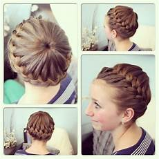 gymnastics hairstyles for long hair for the diva pinterest crown braids long hai and long