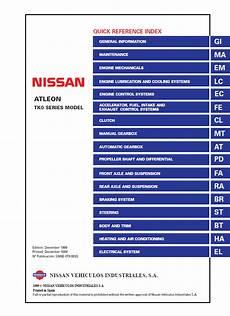 buy car manuals 1999 infiniti q user handbook download nissan atleon model tk0 series 1999 esm